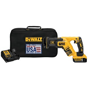 DEWALT DCS367P1 20V MAX* XR® BRUSHLESS COMPACT RECIPROCATING SAW KIT (5.0 AH)