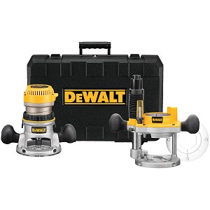 DEWALT DW616PK 1-3/4 HP (MAXIMUM MOTOR HP) FIXED BASE / PLUNGE ROUTER COMBO KIT