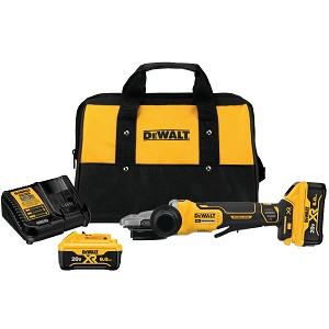 Dewalt DCG413FR2 5 In. 20v Max* Xr® Flathead Paddle Switch Small Angle Grinder Kit With Kickback Brake