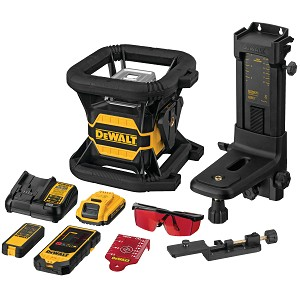 Dewalt DW080LRS 20V MAX* TOOL CONNECT™ RED TOUGH ROTARY LASER LEVEL