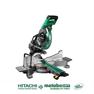 "Hitachi / Metabo HPT C10FSHCT 10"" Sliding Dual Compound Miter Saw with Laser"