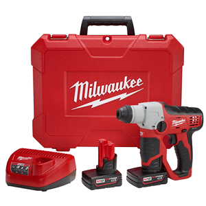 "Milwaukee 2412-22XC M12™ Cordless Lithium-Ion 1/2"" SDS-Plus Rotary Hammer Kit"