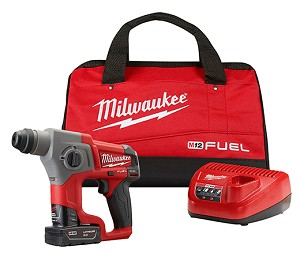 "Milwaukee 2416-21XC M12 FUEL™ 5/8"" SDS Plus Rotary Hammer Kit"