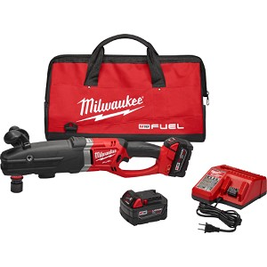 Milwaukee 2711 Cordless M18 FUEL™ SUPER HAWG™ Right Angle Drill w/ QUIK-LOK™ Kit