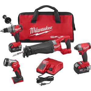 Milwaukee 2896-24 M18 FUEL™ 4-Tool Combo Kit